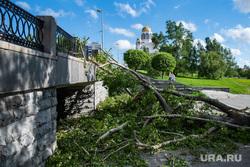 Последствия урагана в Екатеринбурге, храм на крови, улица карла либкнехта, екатеринбург , ураган, циклон, последствия урагана, устранение последствий, дерево, остановка тюз