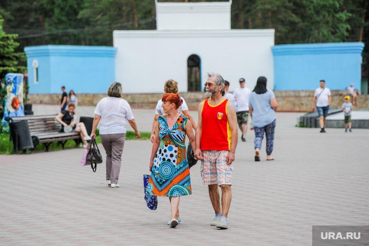 Парк Гагарина после снятия ограничений по эпидемии коронавируса. Челябинск