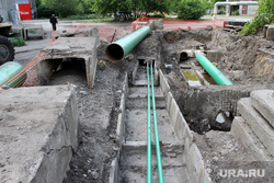 Пресс-тур раскопки КГК Курган, замена труб