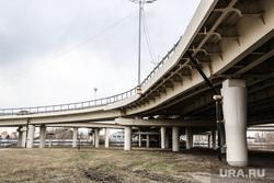 Виды города (развязки, новостройки). Тюмень, мост, развязка