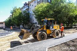Приезд представителей центрального аппарата ОНФ и экскурсия по объектам инфраструктуры города. Тюмень, бульдозер, дорожная техника, ремонт дороги