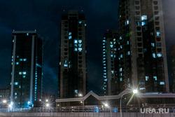 Тюмень ночная. Россия, май 2020, фонари, многоэтажки, ночь, дорога, огни города, тюмень, виды тюмени