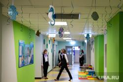 Торжественное открытие четвертого здания детского сада № 43 в микрорайоне Академический. Екатеринбург, коридор, детский сад, украшения, детский садик