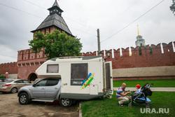 Виды Тулы. Лето. Тула, туризм, туристы, тульский кремль, дом на колесах