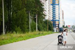 Объезд парковых зон Екатеринбурга в рамках рабочей группы по благоустройству, академический, мать, коляска детская, лето, березовая роща