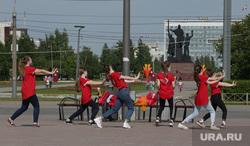 Город в период самоизоляции 27 мая 2020. Пермь, репетиция, чирлидинг