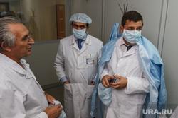 Евгений Куйвашев посетил ОКБ №1. Екатеринбург, куйвашев евгений, белые халаты