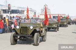 Празднование Дня Победы в ВОВ в Салехарде, автомобили, парад, день победы, 9 мая