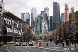 Москва во время объявленного режима самоизоляции. Москва, москва-сити, москва, дорогомиловская улица