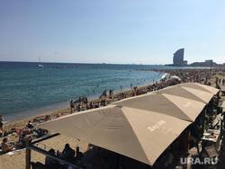 Митинги в Барселоне. Выход Каталонии из состава Испании., море, пляж, барселона, каталония