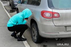 Автоледи. Ремонт машины. Челябинск, ремонт машины, колесо, автоледи, колесо спустило, фольксваген тигуан