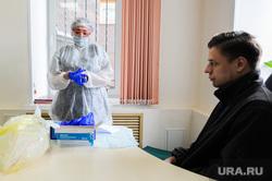 Тест на коронавирус у журналистов контактных с условно зараженным. Челябинск, медсестра, медик, эпидемия, тест на covid19, тест на коронавирус