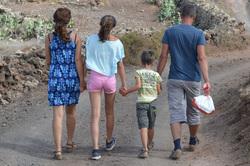Открытая лицензия от 09.09.2016. Семья, многодетная семья, дети со спины
