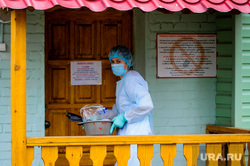 Челябинский областной реабилитационный центр, куда поместили на карантин прилетевших из Тайланда. Челябинск, медик, эпидемия, карантин, защитная одежда, врач, обсервация