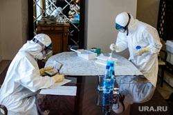 Рабочая поездка Дмитрия Кобылкина в Норильск. Норильск, защитный костюм, анализ, тест на covid19, противочумный костюм, тест на коронавирус, коронавирус, covid, тест ковид
