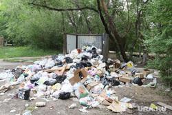 Старые общежития в Кургане, мусор, свалка, помойка
