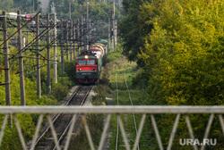 Виды Екатеринбурга, пешеход, город, железная дорога, поезд