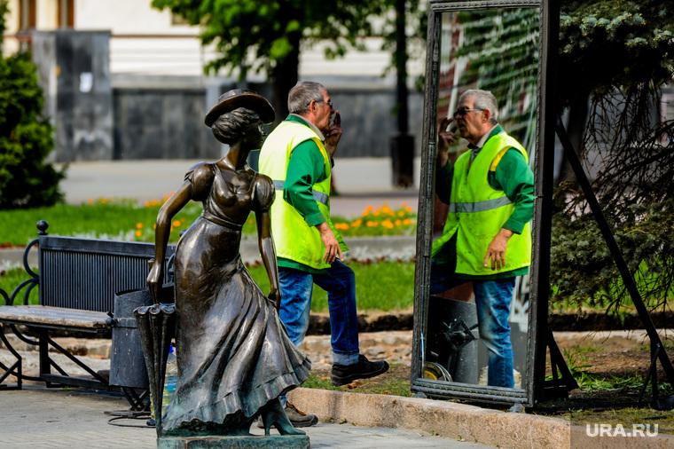 Весна в городе. Обстановка на улицах во время эпидемии коронавируса. Челябинск