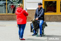 Обстановка в городе во время эпидемии коронавируса. Челябинск, скульптура, кировка, хатико