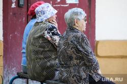 Дети. Пенсионеры. Курган, старушки, скамейка, бабушки, пенсионеры