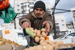 Виды Екатеринбурга, продавец, орехи, лоток, торговец, уличная торговля, грецкий орех
