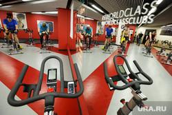 Соревнования по триатлону в WorldClass. Екатеринбург, велотренажеры, фитнес