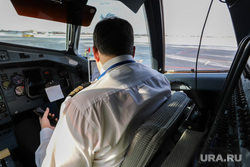Споттинг. Курган, снег, аэропорт, навигация, пилот, навигационная система, пилот экипажа, аэроквокзал