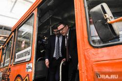 Алексей Текслер в трамвайном депо. Челябинск, павлюченко александр, текслер алексей, трамвай