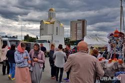 Троицкая православная ярмарка. Курган, покупатели, православная ярмарка, ярмарка, свято троицкий собор