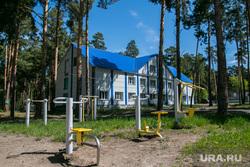 Проверка готовности детских оздоровительных лагерей к летнему сезону. Курган, тренажеры, детский лагерь островского