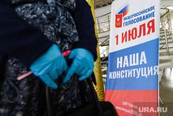Общероссийское голосование по поправкам в Конституцию России. Курган , перчатки, резиновые перчатки, голосование, поправки в конституцию, общероссийское голосование, участок голосования
