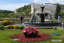 Виды Екатеринбурга, лето, сквер им бабыкина, санаторий мельковский