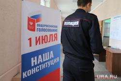Общероссийское голосование по поправкам к Конституции Российской Федерации. Курган , полиция, избирателный участок, дистанция, общероссийское голосование, социальная дистанция