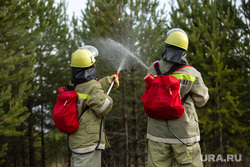 Клипарт. Сургут, мчс, спасатели, лесной пожар, тушение пожара, пожарные