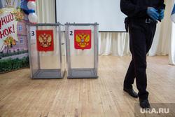 Губернатор Перми Дмитрий Махонин на голосовании по поправкам в Конституцию России. Пермь, полиция, урна для голосования, поправки в конституцию, общероссийское голосование