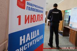 Общероссийское голосование по поправкам к Конституции Российской Федерации. Курган , полиция, избирателный участок, дистанция, общероссийское голосование