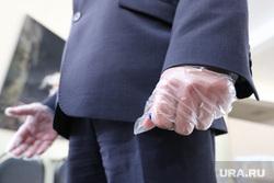 Общероссийское голосование по поправкам в Конституцию России. Курган , перчатки, резиновые перчатки, санитарная норма, участок голосования