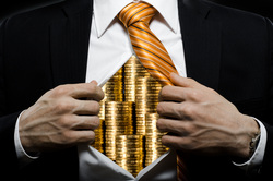Клипарт депозитфото, богач, монеты, бизнесмен, финансы, олигарх, экономика