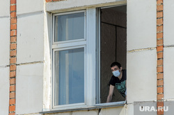 Инфекционная больница, куда доставляют больных коронавирусной инфекцией. Челябинск, больной, скорая помошь, окно, пациент, covid, ковид, обсерватор, инфекционная больница
