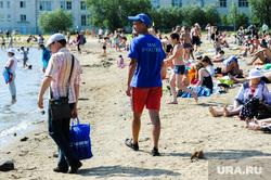 «Путинский» пляж на озере Смолино. Челябинск, мчс, лето, жара, отдых на воде, спасатель, пляж, водоем, безопасность на воде
