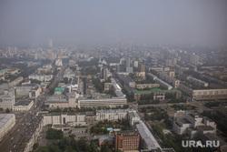 Смог в Екатеринбурге, дым, смог, вид с высоты, виды екатеринбурга, панорама города, туман, экология, загрязнения