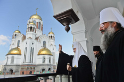 Заседание Священного Синода в Екатеринбурге, храм на крови, владыка кирилл, патриарх кирилл