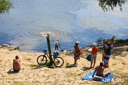 Виды города. Курган, набережная тобола, лето, купальный сезон, река тобол, купание в реке