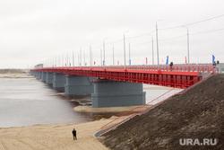 Открытие надымского моста: Кобылкин, Комарова, Якушев, Владимиров, Холманских и Маслов, мост, победа