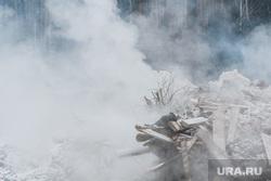 Пожар на несанкционированной свалке на Уралмаше. Екатеринбург, дым, свалка горит, пожар на свалке