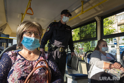 Клипарт. Магнитогорск, защитная маска, полицейский, масочный режим, проверка в трамваях