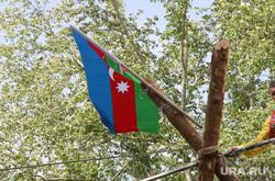День России Курган, флаг азербайджана, флаг россии, канатоходец