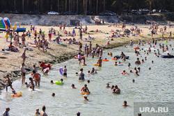 Пляж «Голубые озера». Курган, купание, лето, голубые озера, пляж