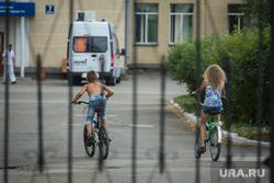 Медицинский клипарт. Магнитогорск, дети на велосипедах, скорая помощь, больница