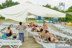 Частный пляж «Западный». Челябинск, лето, пляж, отдых, лежаки, пляжный сезон